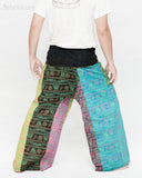 Soft Yoga Stonewashed Rustic Sweet Colorful Nepali Cotton Vintage Hippie Fisherman Pants OMF-9 back