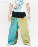 Soft Yoga Stonewashed Rustic Sweet Colorful Nepali Cotton Vintage Hippie Fisherman Pants OMF-9 front