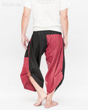 Urban Active Samurai Harem Pants (Burgundy Warrior Banner) back