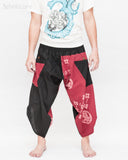 Urban Active Samurai Harem Pants (Burgundy Warrior Banner) front