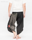 Urban Active Samurai Harem Pants Unisex (Black Spiderweb Diamond) back