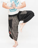 Urban Active Samurai Harem Pants Unisex (Black Spiderweb Diamond) dance