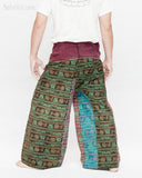 Vintage Design Om Rustic Stonewashed Nepali Cotton Fisherman Pants Patchwork Trousers OMF-4 back