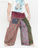 Vintage Design Om Rustic Stonewashed Nepali Cotton Fisherman Pants Patchwork Trousers OMF-4 right