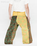 Yogi Rustic Stonewashed Nepali Cotton Om Fisherman Pants Vintage Style Patchwork Trousers OMF-6 back