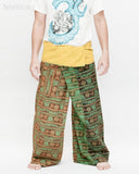 Yogi Rustic Stonewashed Nepali Cotton Om Fisherman Pants Vintage Style Patchwork Trousers OMF-6 front