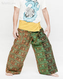 Yogi Rustic Stonewashed Nepali Cotton Om Fisherman Pants Vintage Style Patchwork Trousers OMF-6 right