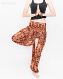 Bohemian Elephants ZigZag Yoga Pants Hippie Harem Trousers (Copper) namaste
