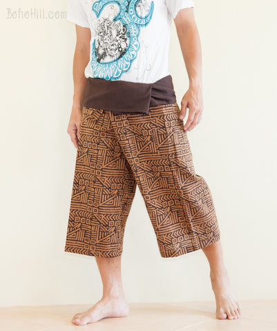 Fisherman Pants - Capri Thai Fisherman Pants (Brown Broken Rock)