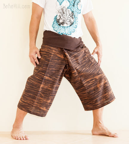 Fisherman Pants - Capri Thai Fisherman Pants (Brown Strake)