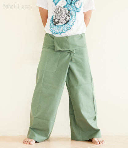 Fisherman Pants - Zen Monastery Premium Cotton Fisherman Pants (Mint Green)