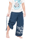Hip Hop Pants Parkour Flow Aladdin Bloomers Etre Fort Pour Etre Utile Convertible (Blue) pull