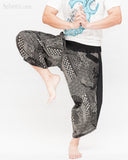 ninja style samurai harem pants artist trousers black tribal warrior spiderweb diamond dragon scale dance
