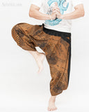 ninja style samurai harem pants artist trousers brown tribal warrior spiderweb diamond dragon scale dance