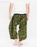 Ninja Style Samurai Harem Pants Artist Trousers (Green Zen Meadow) back