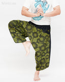 Ninja Style Samurai Harem Pants Artist Trousers (Green Zen Meadow) dance
