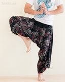 Ninja Style Warrior Harem Pants Black Bamboo Forest magic