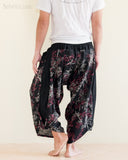 Ninja Style Warrior Harem Pants Black Bamboo Forest rear