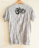 Om Tribal Mandalas Crinkle Original Men's Tattoo T-Shirt Gray BohoHill hang back