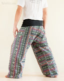 Original Cherokee Feather Patchwork Low Crotch Fisherman Pants SOL-FW12 back