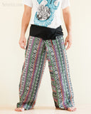 Original Cherokee Feather Patchwork Low Crotch Fisherman Pants SOL-FW12 front
