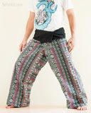 Original Cherokee Feather Patchwork Low Crotch Fisherman Pants SOL-FW12 left
