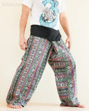 Original Cherokee Feather Patchwork Low Crotch Fisherman Pants SOL-FW12 right