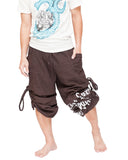 Parkour Active Aladdin Bloomers Hip Hop Graffiti Etre Fort Pour Etre Utile Convertible (Brown) capri
