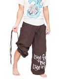 Parkour Active Aladdin Bloomers Hip Hop Graffiti Etre Fort Pour Etre Utile Convertible (Brown) pull