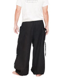 Parkour Flow Active Aladdin Bloomers Pants Etre Fort Pour Etre Utile Convertible (Black) back