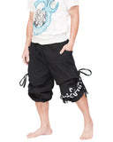 Parkour Flow Active Aladdin Bloomers Pants Etre Fort Pour Etre Utile Convertible (Black) capri