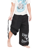 Parkour Flow Active Aladdin Bloomers Pants Etre Fort Pour Etre Utile Convertible (Black) pull