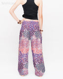Phoenix Feather Comfy Yoga Pants Soft Genie Harem Pants (Pink) back