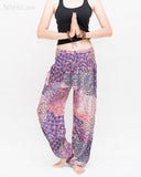 Phoenix Feather Comfy Yoga Pants Soft Genie Harem Pants (Pink) namaste