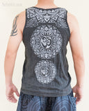 Tribal Mandalas Om Unisex Original Tattoo Yoga Tank Top Normal Cut Vest Granite Black BohoHill back