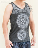 Tribal Mandalas Om Unisex Original Tattoo Yoga Tank Top Normal Cut Vest Granite Black BohoHill side