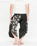urban active samurai harem pants black ancient chinese square japanese warrior cropped trousers back