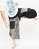 urban active samurai harem pants black elephants tribal diamond weave japanese cropped trousers kick