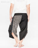 urban active samurai harem pants black tribal broken rock japanese cropped trousers back