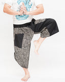 urban active samurai harem pants black tribal broken rock japanese cropped trousers dance