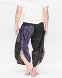 Urban Active Samurai Harem Pants (Royal Blue Tribal Motif) back