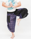 Urban Active Samurai Harem Pants (Royal Blue Tribal Motif) dance