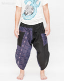 Urban Active Samurai Harem Pants (Royal Blue Tribal Motif) front