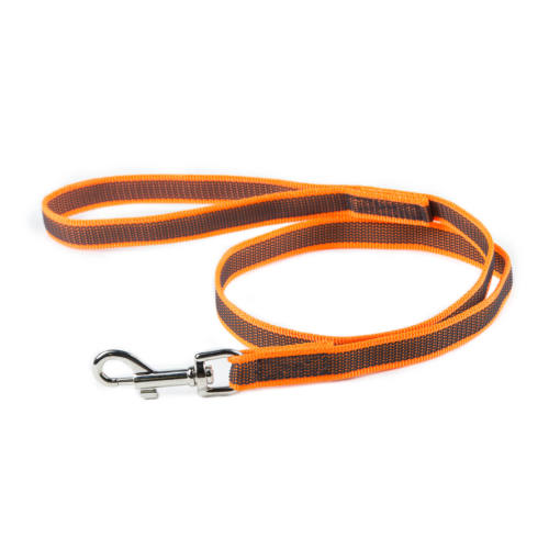 JULIUS K9 Anti-Slip Gripper Leash orange 2cm with handle