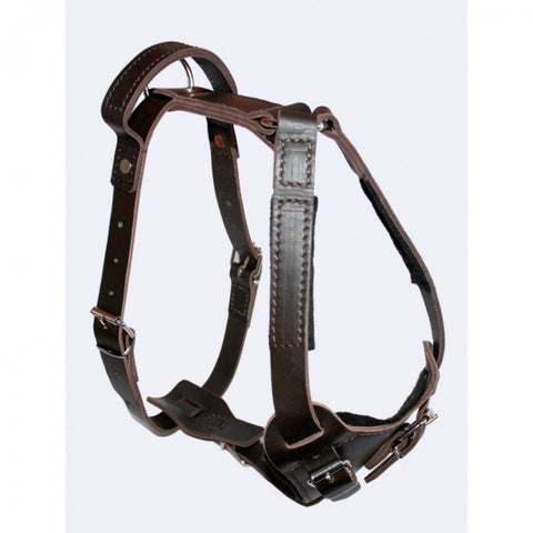 KLIN Leather Agitation Work Harness with handle, sewn