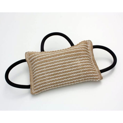 Schweikert Bite Pillow with 3 handles, Jute, Firm