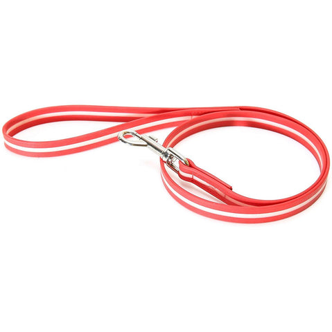 JULIUS K9 IDC Lumino Leash, glow-in-the-dark, red, with handle