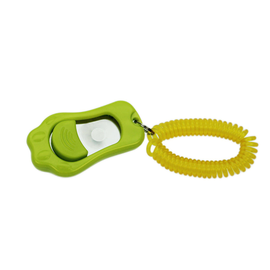 Training Clicker with spiral Wristband and adjustable Sound