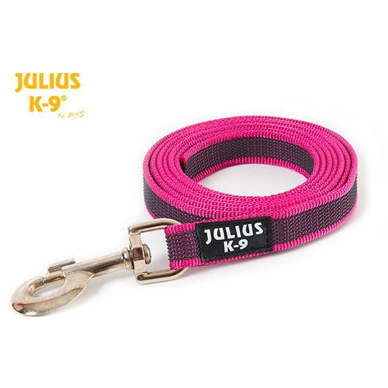 JULIUS K9 Anti-Slip Gripper Leash pink with handle
