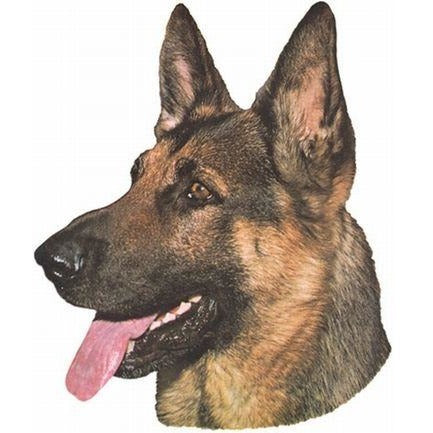 Decal German Shepherd Head 2